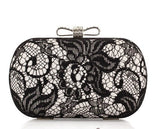 2013 New Fashion Lace Satin Evening Bags. High-Grade Silk Bow Package. Exquisite Clutch. 2 Colors. Cheap Free Shipping NO3013