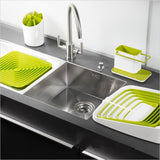 Caddy Self Draining Sink Tidy Sink Aid Organizer Brush Sponge Cleaning Cloth Holder Tidy Flower Type kitchen draining rack dishs - Shopy Max