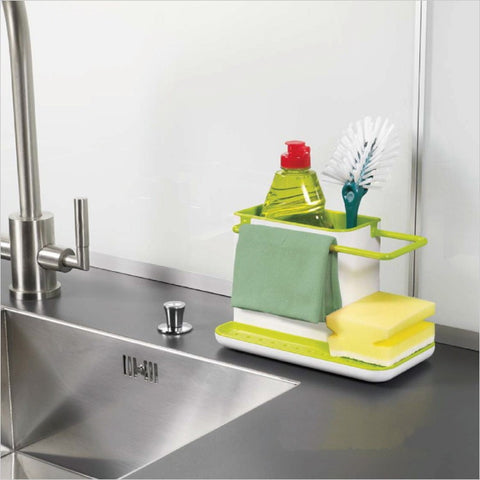 Caddy Self Draining Sink Tidy Sink Aid Organizer Brush Sponge Cleaning Cloth Holder Tidy Flower Type kitchen draining rack dishs