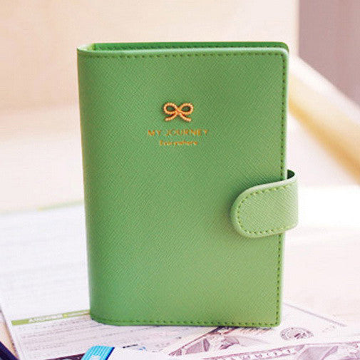 High Quality Simply Travel Wallet Passport Cover Credit Business Card Holder Bowknot Passport