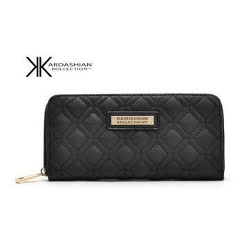 Hot Selling Kk Wallet Long Design Women Wallets PU Leather Kardashian Kollection High Grade Clutch Bag Zipper Coin Purse Handbag