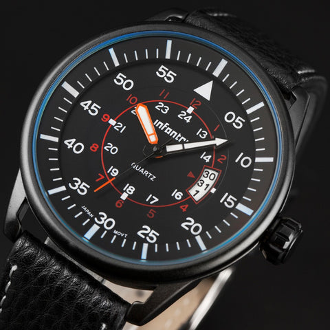 INFANTRY Mens Watches 2015 New Arrival Casual Business Wrist Watches
