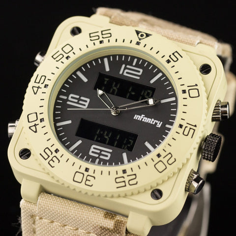 INFANTRY Mens Watches Military Desert Aviator Sports Watches Reloj Digital