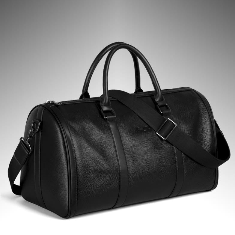 Male  men cowhide luggage handbag genuine leather commercial travel bag man bag