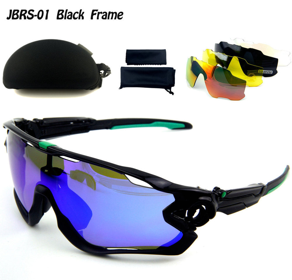 5 Pair Lens Polarized UV 400 Cycling Sunglasses Bicycle Glasses Outdoor Sports