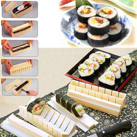 DIY Sushi Maker Rice Mold Kitchen Sushi Making Tool Set Pack of 11