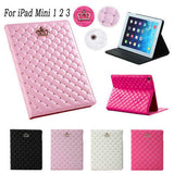 New Fashion Crown Flip Leather Smart Case For Apple iPad Mini 1 2 3 Stand Tablet Cases PU Leather Cover for iPad Mini 3 Cases - Shopy Max