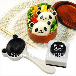 New Rice Ball Mold Lovely Panda Shaped Sushi Maker Mould Kit with Nori Punch
