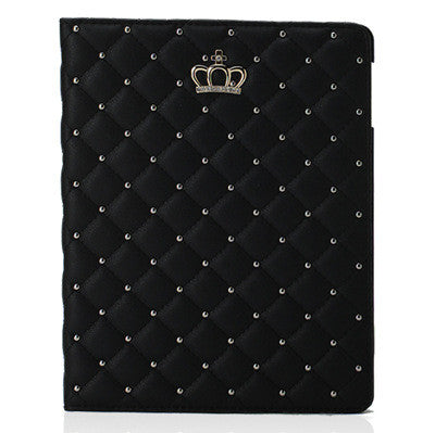 Newest Fashion Crown Smart Cover For iPad Air 2 9.7'' Stand Function Tablet Cases PU Leather Case for iPad Air II iPad 6 Case