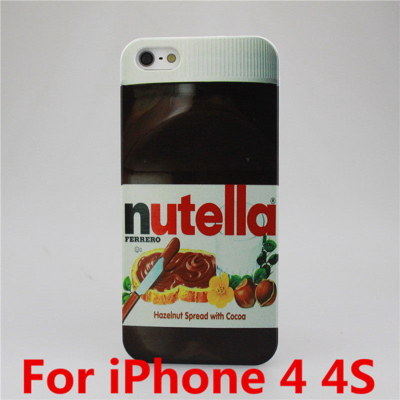 Nutella Design Smooth Hardened Plastic Phone Case for Apple iPhone 4 4S 5 5S 5C 6 6 Plus Free Shipping - Shopy Max