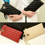 OCEA Fashion Women Zip PU Leather Clutch Case Lady Long Handbag Wallet Purse - Shopy Max