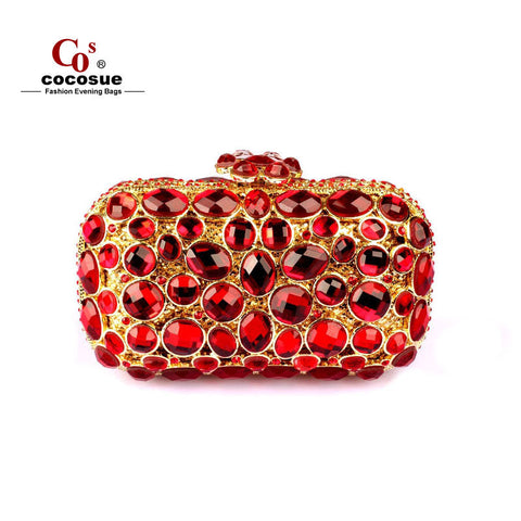new 4 colors brand design crystal fashion small women bags CO9787