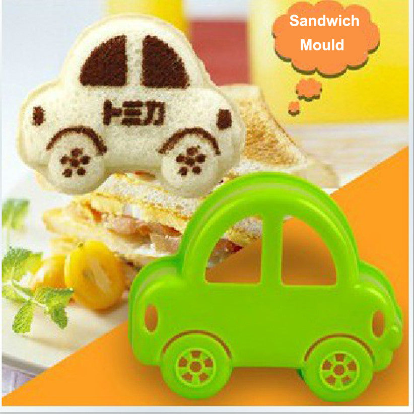 Toast Bread Sandwich Mold Baby Rice Dumpling Mould Car Shap Mold Bento Sushi DIY Rice Roll Mould Design Baby Meal Rice Shaper - Shopy Max