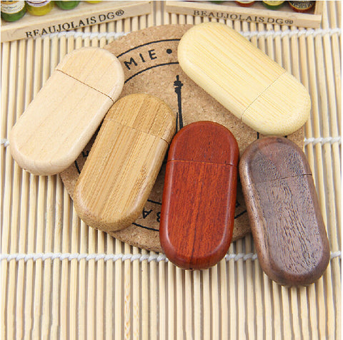 HOT!Wooden personality creative gift customized wood USB flash drive