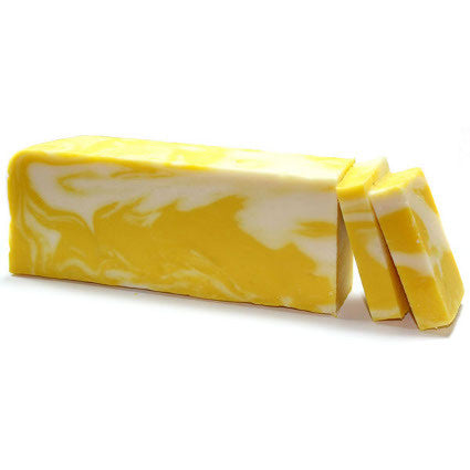 Lemon Olive Oil Artisan Soap Slice