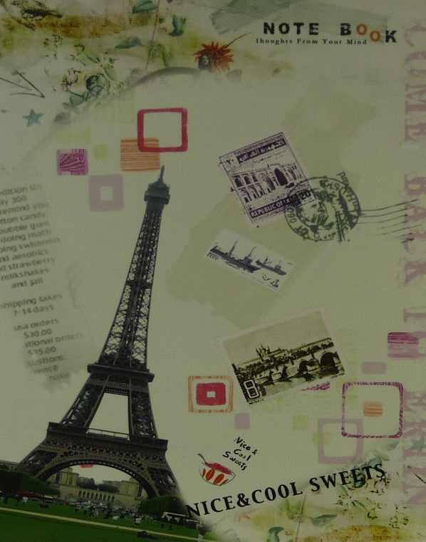 Paris Eiffeltower Postcard - 35cm x 28cm - 24mm Thick Wooden Base