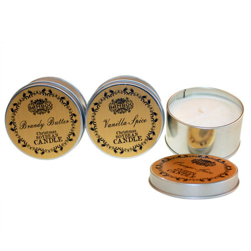 Christmas Soy Tin Candles Set 1 (pack 3)