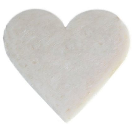 6x Heart Guest Soaps - Coconut - Shopy Max