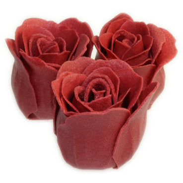 Bath Roses - 3 Roses in Heart Box (Rose) - Shopy Max