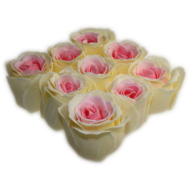 Bath Roses - 9 Roses in Gift Box (Peach) - Shopy Max