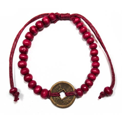 Good Luck Feng Shui Bracelet - Red - Shopy Max