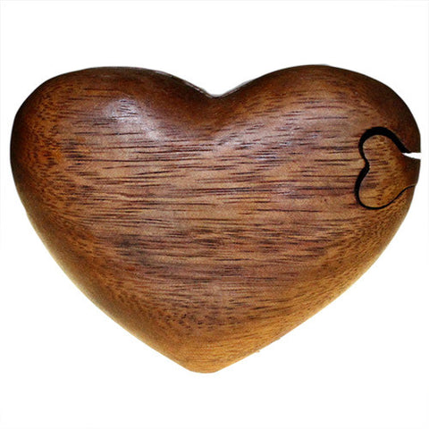 Bali Puzzle Box - Single Heart