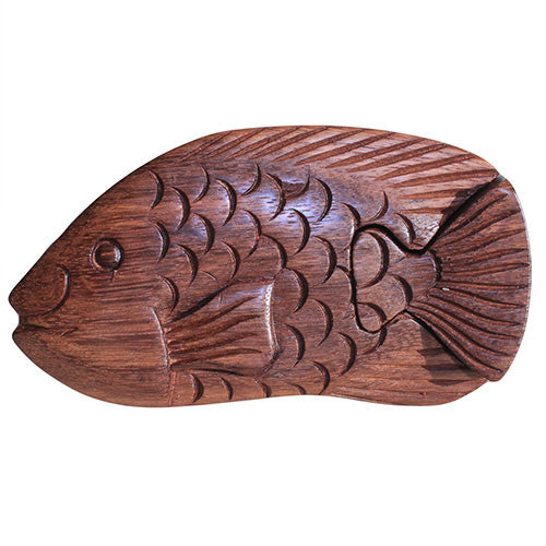 Bali Puzzle Box - Fish Carp - Shopy Max
