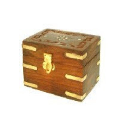 Carved Wooden Box holds 6x10ml bottles - Shopy Max