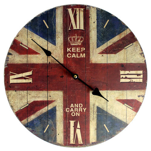 Clock - Keep Calm & Carry On
