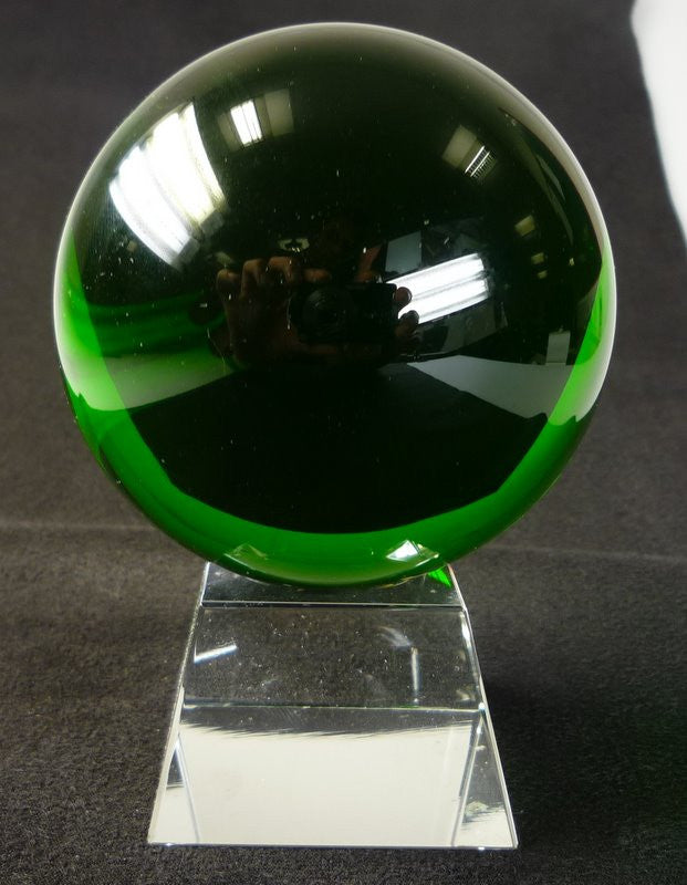 80mm Green Crystal Ball On Stand - Shopy Max