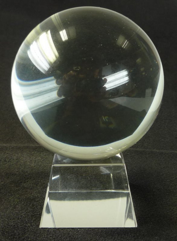 80mm Clear Crystal Ball On Stand - Shopy Max