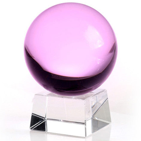 60mm Pink Crystal Ball On Stand - Shopy Max