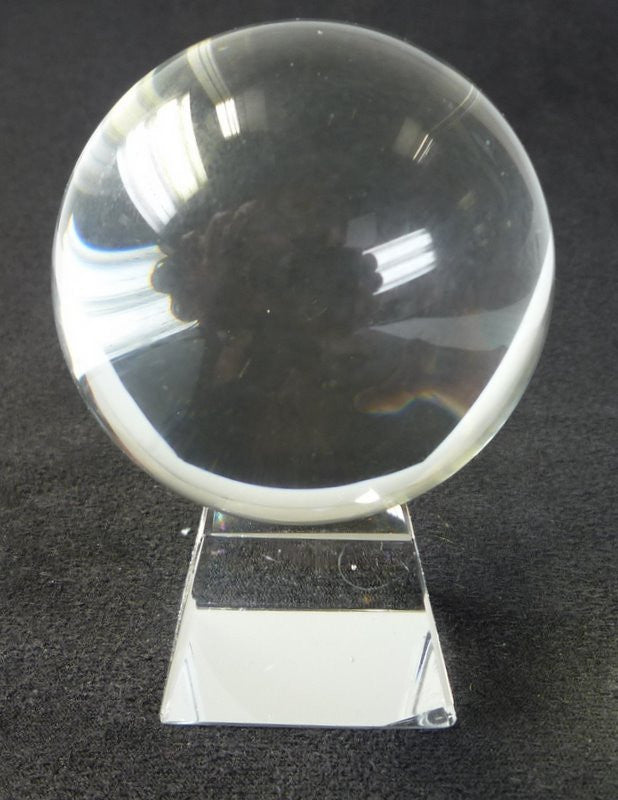 60mm Clear Crystal Ball On Stand - Shopy Max