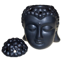 Buddha Head Oil Burner - Black - Shopy Max