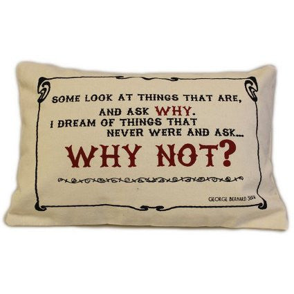 Canvas Cushion Cover - Why Not?