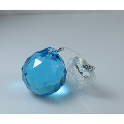 40mm Crystal Sphere Black Box - Aqua