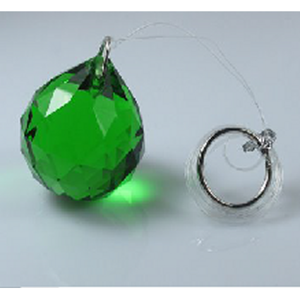 40mm Crystal Sphere Black Box - Green