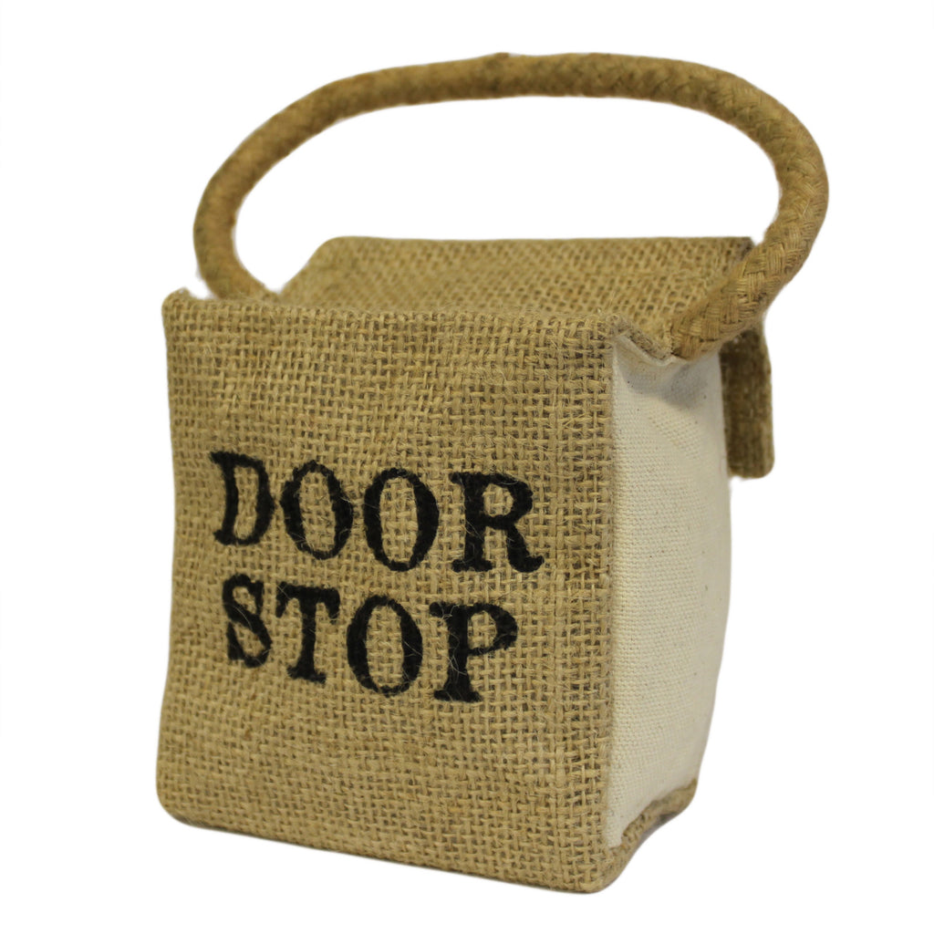 Sm Sq Cotton & Jute - DOOR STOP