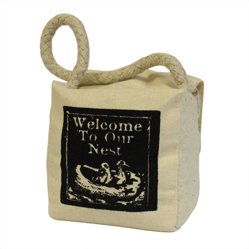Small Sq Cotton - Welcome to Our Nest