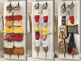 1pc Adjustable Over Door Straps Hanger Hat Bag Coat Clothes Rack Organizer 8 Hooks - Shopy Max