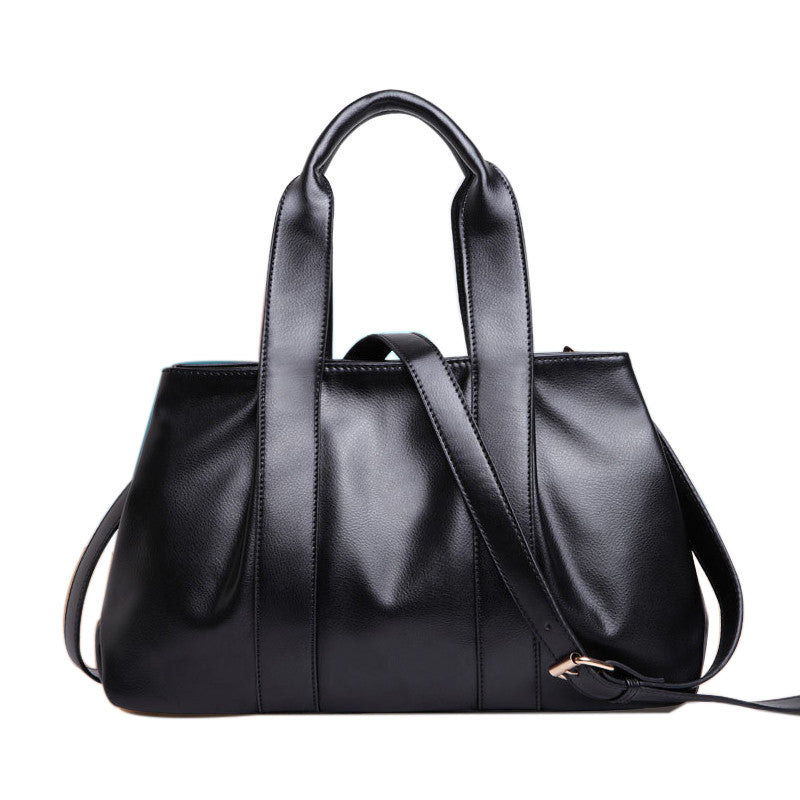 6e77a196128 famous high quality pu leather bags women shoulder bags with single long  belt solid leather handbags dollar price casual vintage