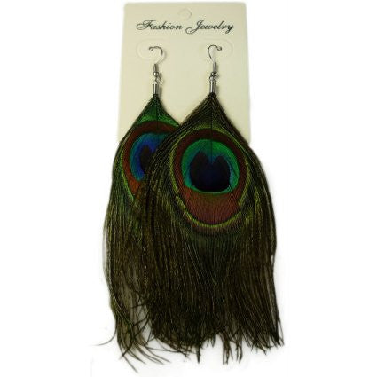Feather Earring - Peacock