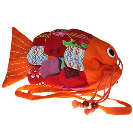 Recycled Handmade Fish Bags - Orange - Shopy Max