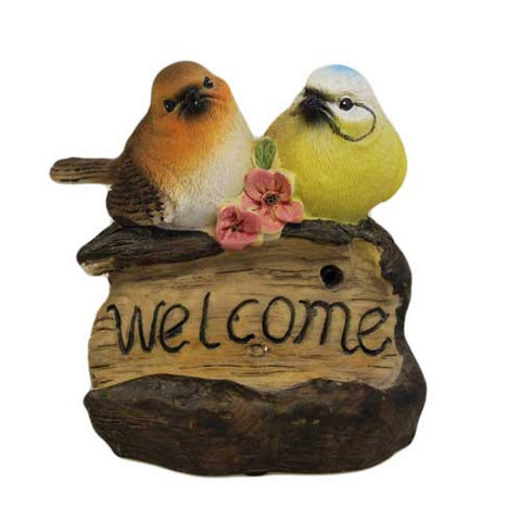 Tweet Alert - Two Birds on Welcome Sign