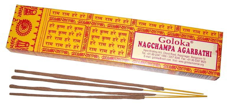 Goloka Nagchampa Incense Sticks - 16g pack - Shopy Max