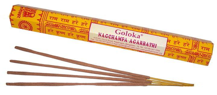 Goloka Nagchampa Incense Sticks - 20g - Shopy Max