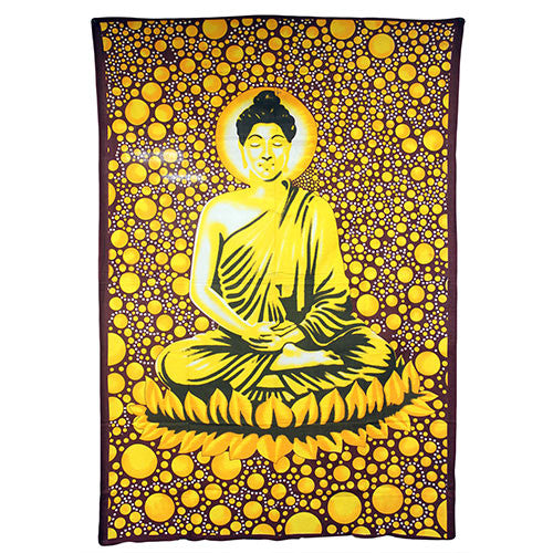 Large Brown Buddha Bedspread / Wall Art