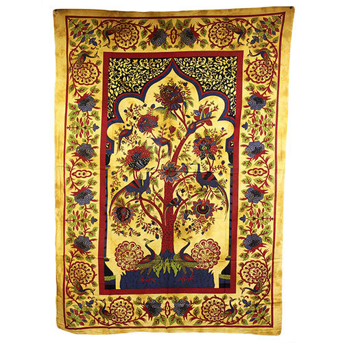 Tree of Life - Brown Bedspread / Wall Art - Shopy Max