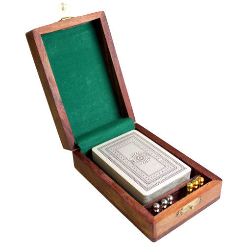Single Pack Cribbage Box with Brass Pegs - Shopy Max