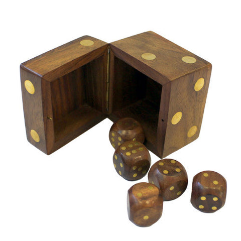 Dice Box with Five Dice